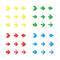 Isolated arrows set undo and previous buttons vector Stock Image