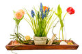 Isolated artificial flower deco Royalty Free Stock Photo