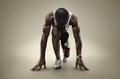 Isolated Athlete runner