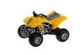 Isolated atv four wheeler quad motorcycle toy yellow Stock Photography