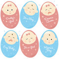 Isolated Babies Set 2 Stock Image