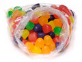 Isolated Bag of Gumdrops Stock Images