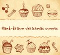 Isolated bakery hand-drawn illustrations set Stock Photo