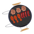 Isolated barbecue grill