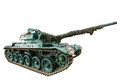 Isolated Battle Tank