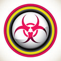 Isolated biohazard sign. Royalty Free Stock Images