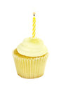 Isolated Birthday Cupcake Royalty Free Stock Photo