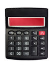 Isolated Black Calculator Royalty Free Stock Photo