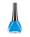 Isolated Blue Nail Polish Royalty Free Stock Photo