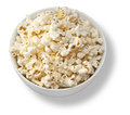 Isolated bowl of popcorn a white on white Stock Image