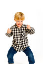 Isolated Boy Portraits Stock Photography