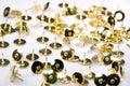 Isolated brass tacks Royalty Free Stock Photo