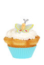 Isolated Butterfly cupcake Royalty Free Stock Photography