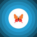 Isolated Butterfly Flat Icon. Danaus Plexippus Vector Element Can Be Used For Butterfly, Monarch, Moth Design Concept. Royalty Free Stock Photo