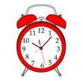 Isolated Cartoon Alarm Clock. Royalty Free Stock Photo