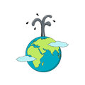 Isolated cartoon the earth and oil business Royalty Free Stock Photo