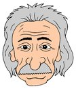 Isolated cartoon head albert einstein Stock Photo