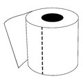 Isolated Cartoon Toilet Paper Roll Royalty Free Stock Photo