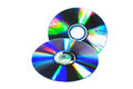 Isolated cd on white background Stock Images