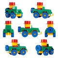Isolated children toy car SUV. different angles Royalty Free Stock Photo