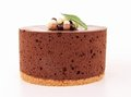 Isolated chocolate cake Stock Photography