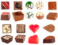 Isolated chocolates set Stock Image
