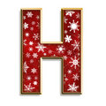 Isolated Christmas letter H in red Stock Photos