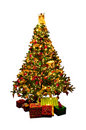 Isolated Christmas tree Royalty Free Stock Photography