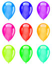 Isolated Colorful Balloons Collection Royalty Free Stock Photo