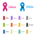 Isolated colorful ribbon logo set on the white background. Against cancer logotype. Stop prostate disease symbol