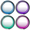 Isolated colorful webdesign button series illustration Stock Images