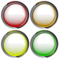 Isolated colorful webdesign button set illustration Stock Photography