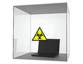 Isolated computer virus infected laptop from the environment Stock Images