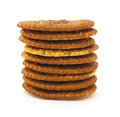 Isolated crackers Royalty Free Stock Photo