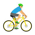 Isolated cyclist with contour