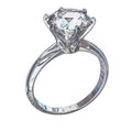 Isolated Diamond Ring Illustra...
