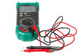Isolated digital multimeter with probes Royalty Free Stock Photo