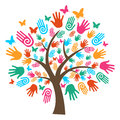 Isolated diversity tree hands Royalty Free Stock Photo