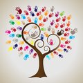 Isolated diversity tree hands. Royalty-Free Stock Photo Isolated diversity tree hands