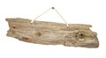 Isolated Driftwood wooden sign board on string Royalty Free Stock Photo