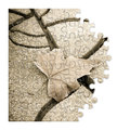 Isolated dry leaf on the ground - concept image in puzzle shape Royalty Free Stock Photo