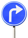 Isolated dutch blue road sign Stock Photos
