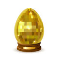 Isolated easter egg on a stand shine decorative white background illustration Royalty Free Stock Images