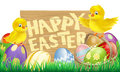 Isolated Easter Sign Royalty Free Stock Photo