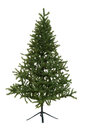 Isolated fake christmas tree on white Stock Photos