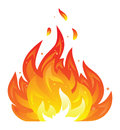Isolated fire icon simple illustration in bright colors gradients used Royalty Free Stock Photo