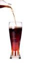 Isolated Fresh coke with splash Royalty Free Stock Photo
