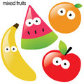 Isolated fruit set Stock Photos