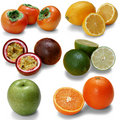 Isolated fruits Stock Image