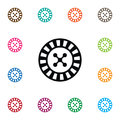 Isolated Gambling Icon. Lucky Vector Element Can Be Used For Gambling, Lucky, Roulette Design Concept.